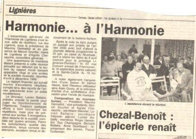 Article assemblée général 15.01.2000