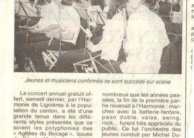 Article Concert Harmonie 20.05.2000