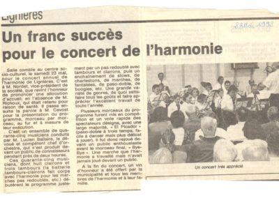 Concert Fanfare de Lignières 23.05.1992