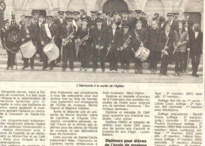 Article Sainte Cécile 14.11.1999