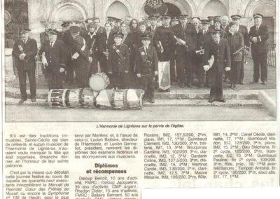 Article Sainte Cécile 18.11.2001