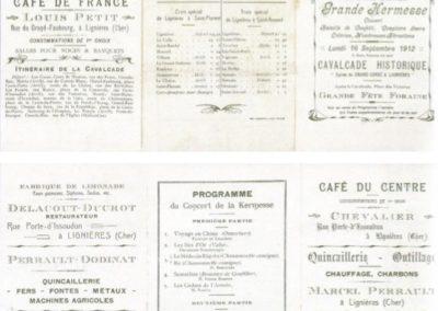 Programme 15.09.1912