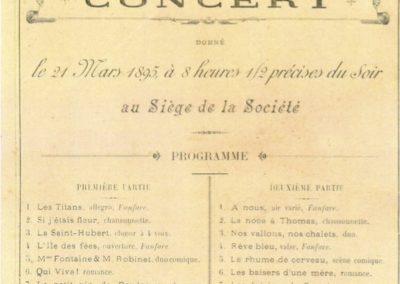 Programme 21.03.1895